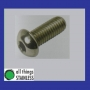 316: Button Head Socket Screw M4x6mm x 100