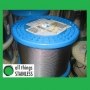 316: 0.8mm 7x7 Stainless Steel Wire Rope - 305 Metre Roll