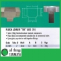 "316: 2"" Flush Joiner TEE Square Satin"