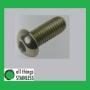 304: Button Head Socket Screw M4x8mm. Box of 100