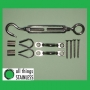 Hand Swaged DIY Kit - Hook/Eye Turnbuckles & Saddles