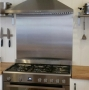 600x600x1.5mm Stainless Splashback - No. 4 Satin