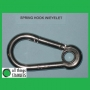 316: 6mm Spring Hook with Eyelet