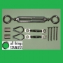 Hand Swaged DIY Kit - Eye/Eye Turnbuckles & Saddles