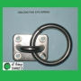 304: 8mm Oblong Pad Eye with Ring