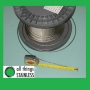 316: 8mm 7x7 Stainless Steel Wire Rope - Per Metre