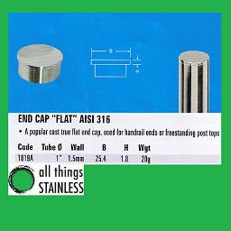 1 Inch Flat End Cap for stainless steel handrail