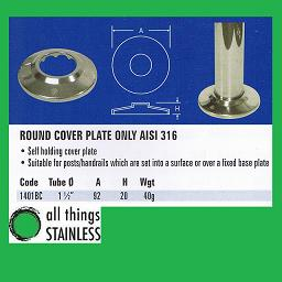 1.5 Inch Base Plate Cover for stainless steel post