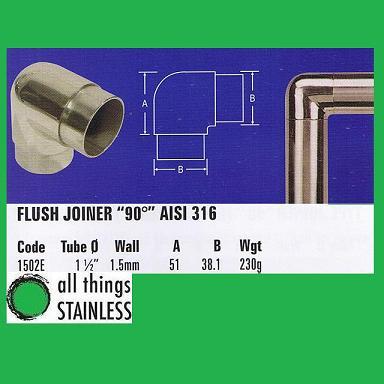 316: 1.5 Inch Flush Joiner 90 Deg
