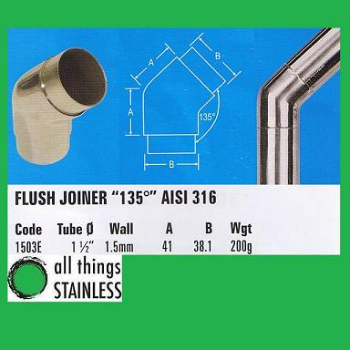 316: 1.5 Inch Flush Joiner 135 Degree