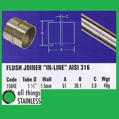316: 1.5 Inch Flush Joiner In-Line