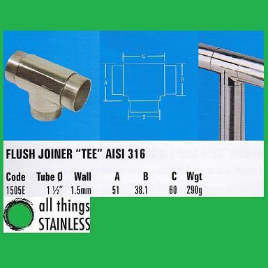 316: 1.5 Inch Flush Joiner Tee