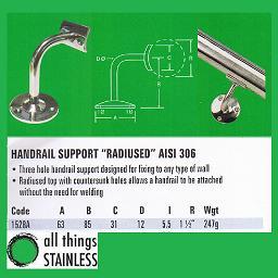 316: Handrail Support Radius - 1528A