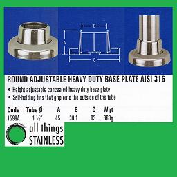 1.5 Inch Round Adjustable Heavy Duty Base Plate
