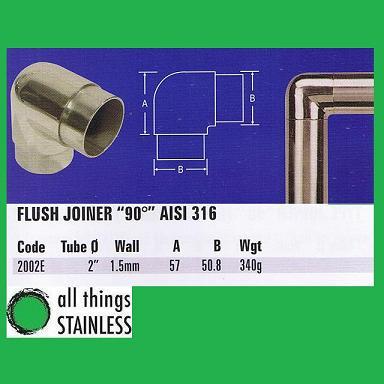 316: 2 Flush Joiner 90 Deg
