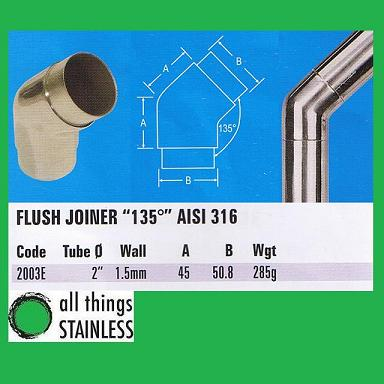 316: 2 Inch Flush Joiner 135 Degree