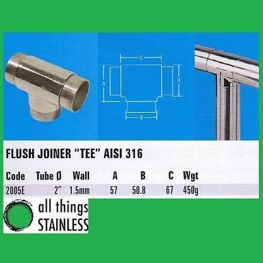 316: 2 Inch Flush Joiner Tee