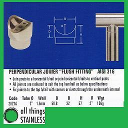 316: 2 Inch Tube 2 Inch Radius Perpendicular Joiner