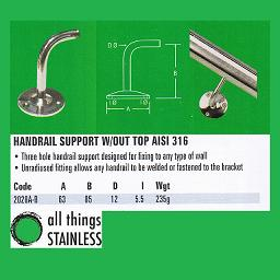 316: Handrail Support - 2028A-B