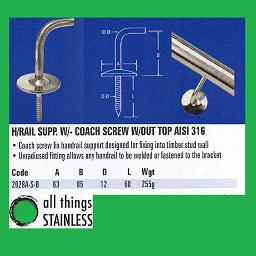 316: Handrail Support - 2028A-S-B