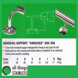 316: Handrail Support Radius - 2028A