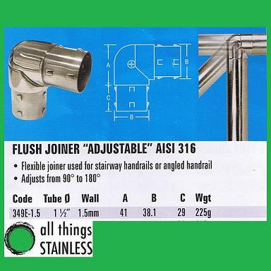 316: 1.5 Inch Flush Joiner Adjustable