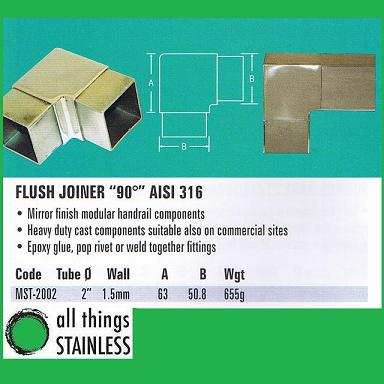 316: 2 Flush Joiner 90 Deg Square Mirror