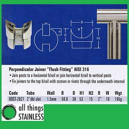 2 Inch Perpendicular Joiner Flush Fitting
