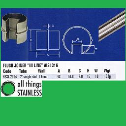 2 Inch Flush Joiner In Line Single Slotted Tube