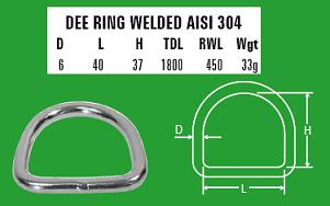 6mm Dee Ring