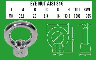 8mm Eye Nut