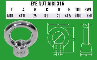 10mm Eye Nut