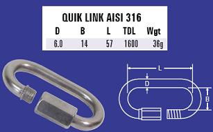 6mm Quick Link